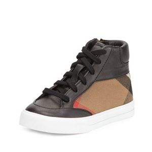 Burberry Haypark Mini Check High-Top Sneaker
